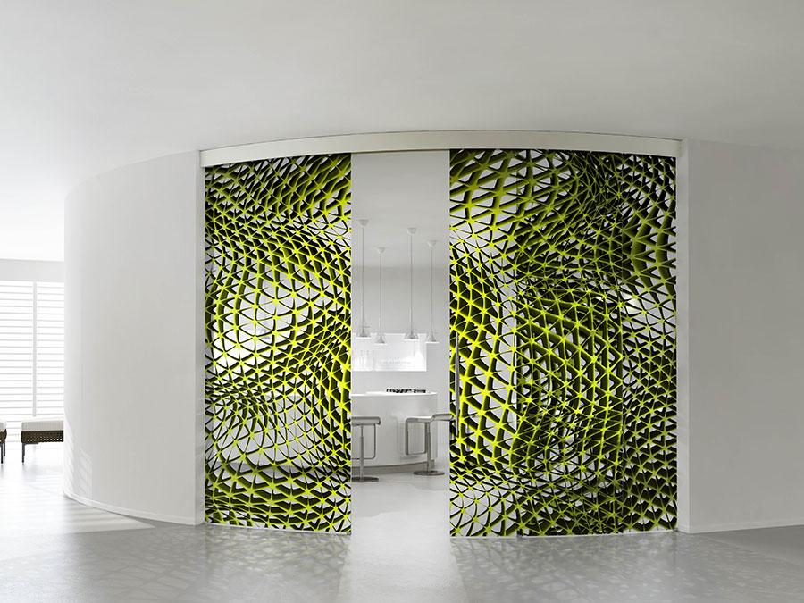 Modello di parete divisoria scorrevole in vetro per abitazioni n.06
