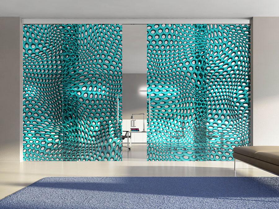 Modello di parete divisoria scorrevole in vetro per abitazioni n.07
