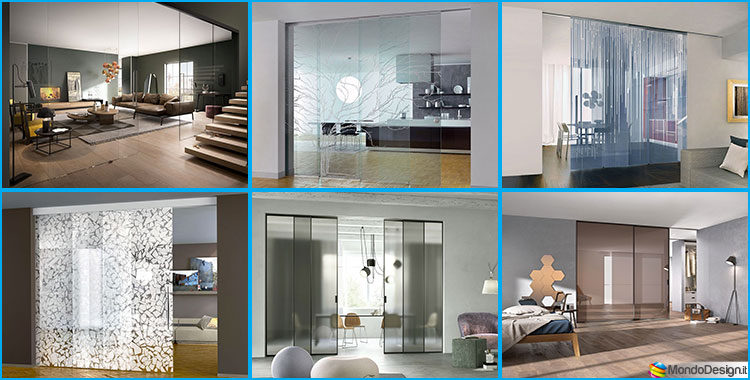 Eleganti pareti divisorie scorrevoli in vetro per abitazioni for Pareti divisorie mobili per interni