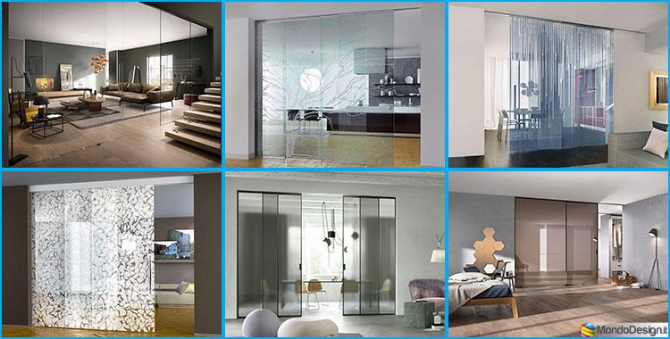 Eleganti pareti divisorie scorrevoli in vetro per for Abitazioni interni