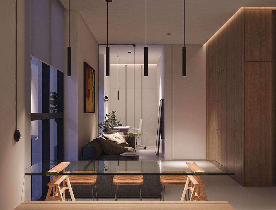 Arredamento per un piccolo appartamento di lusso n.02