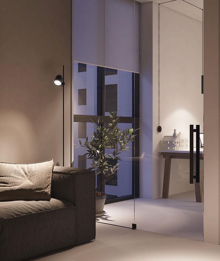 Arredamento per un piccolo appartamento di lusso n.03