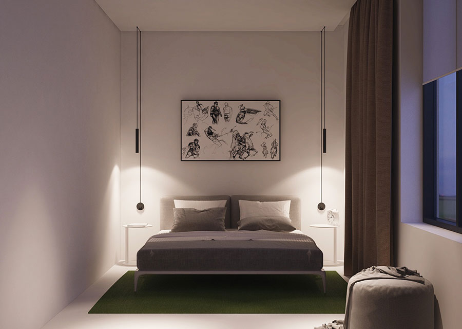 Arredamento per un piccolo appartamento di lusso n.06