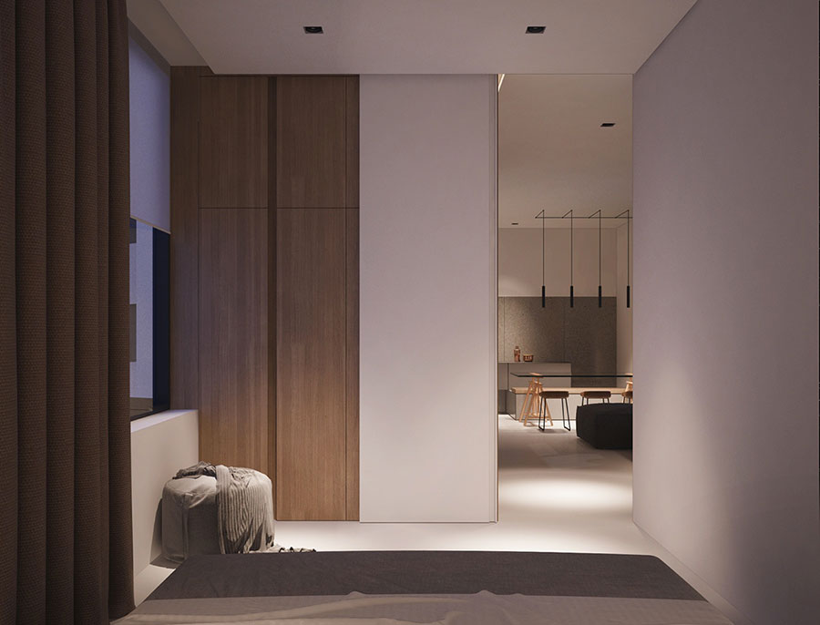 Arredamento per un piccolo appartamento di lusso n.07