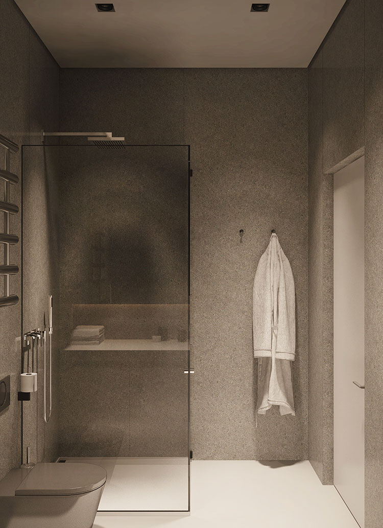 Arredamento per un piccolo appartamento di lusso n.08