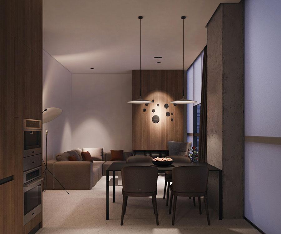 Arredamento per un piccolo appartamento di lusso n.10