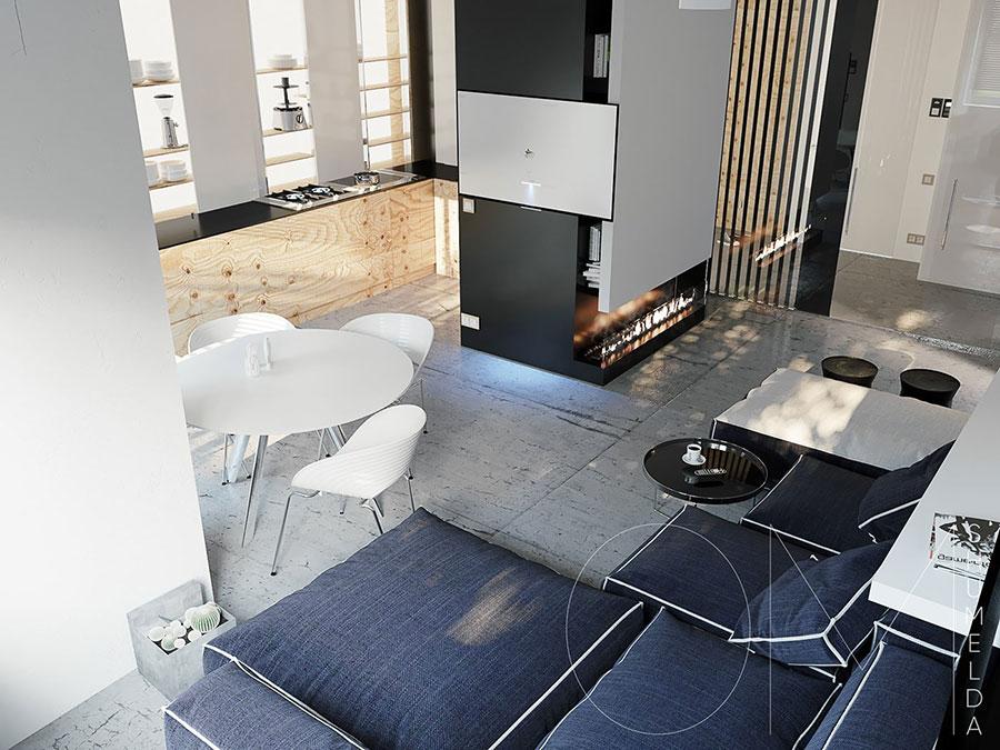 Arredamento per un piccolo appartamento di lusso n.25