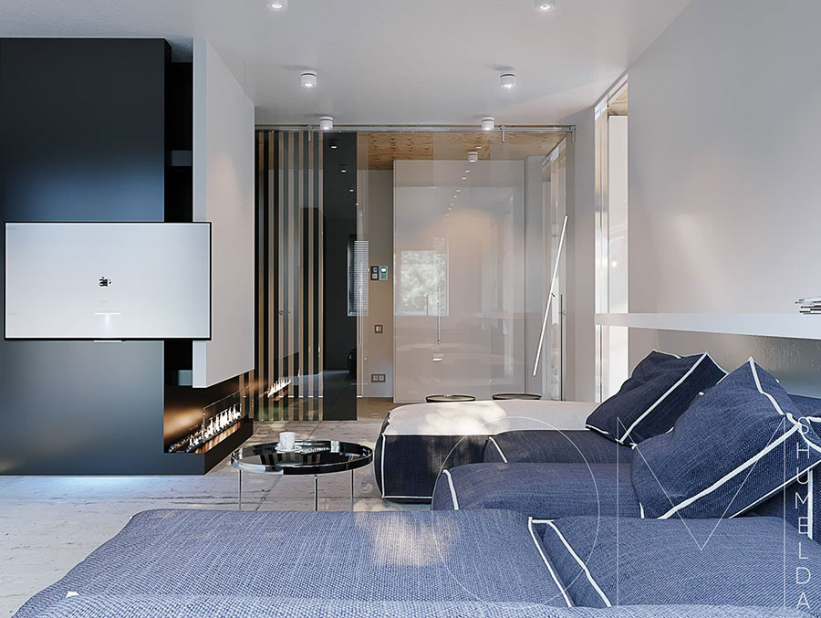 Arredamento per un piccolo appartamento di lusso n.26