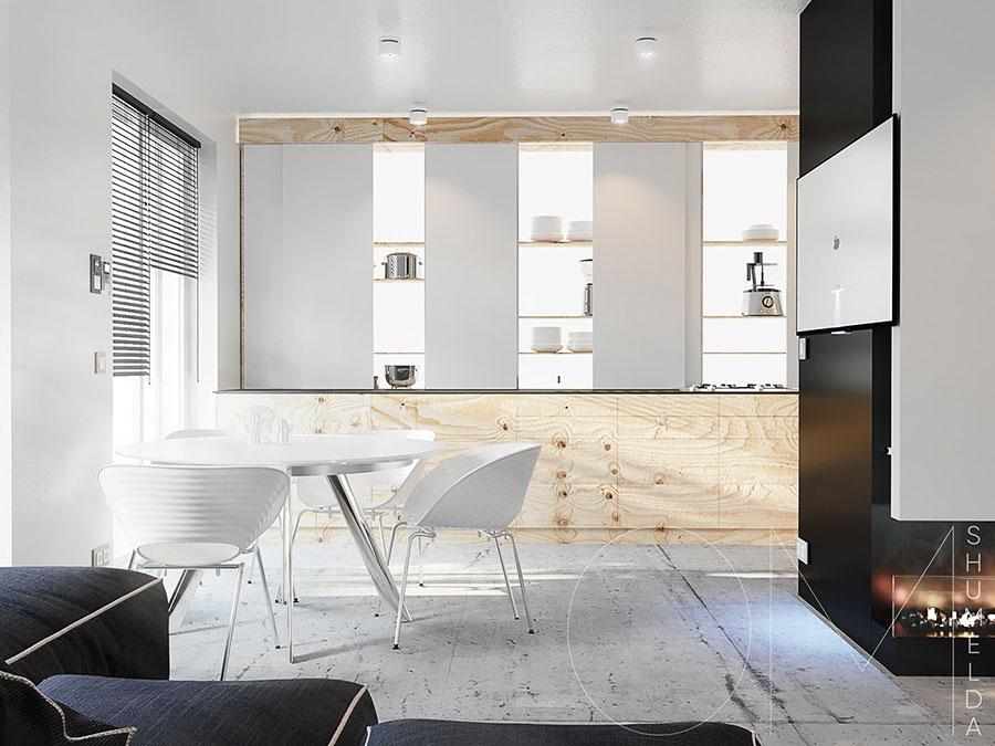 Arredamento per un piccolo appartamento di lusso n.29