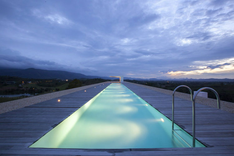 Progetto di design per una piscina da sogno n.01