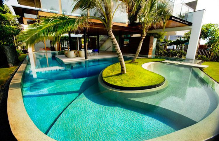 Progetto di design per una piscina da sogno n.06