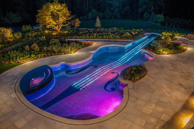 Progetto di design per una piscina da sogno n.13