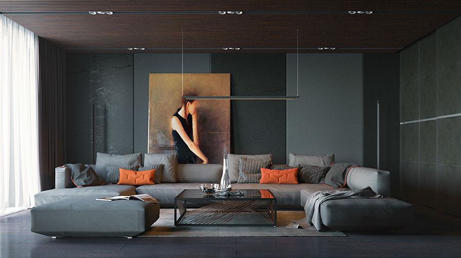 Quadri per soggiorno moderno dal design di tendenza n.01