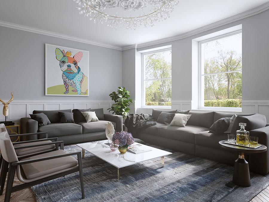 Quadri per soggiorno moderno le ultime tendenze di design for Colori pareti salotto moderno