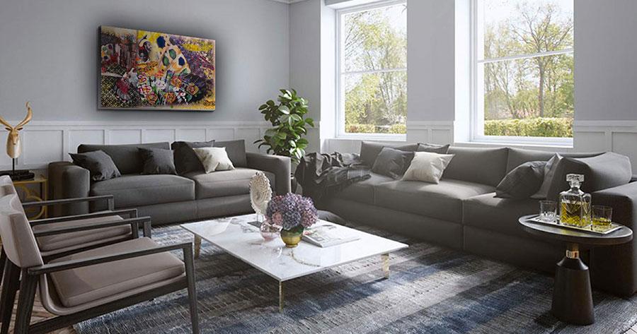 Quadri per soggiorno moderno dal design di tendenza n.07