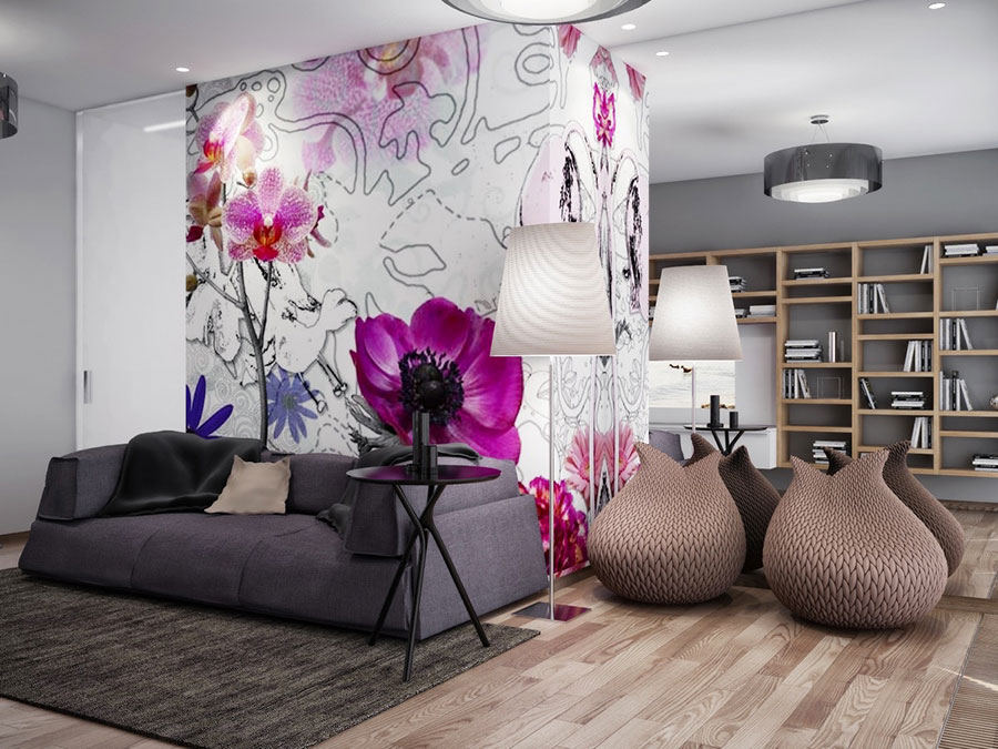 Quadri per soggiorno moderno dal design di tendenza n.10