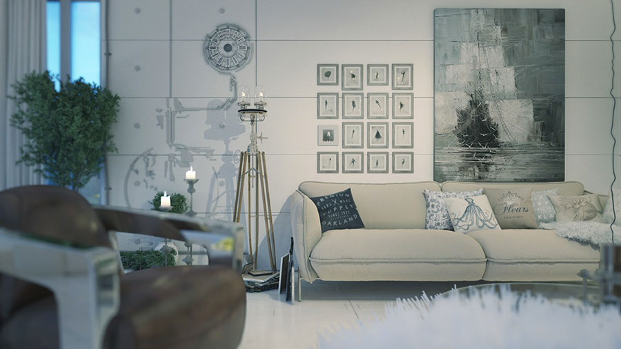 Quadri per soggiorno moderno dal design di tendenza n.11