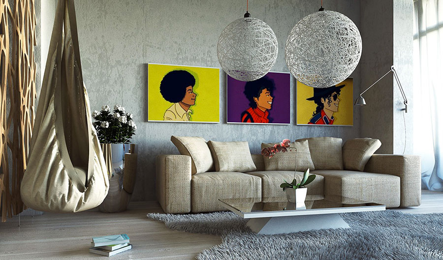 Quadri per soggiorno moderno dal design di tendenza n.12