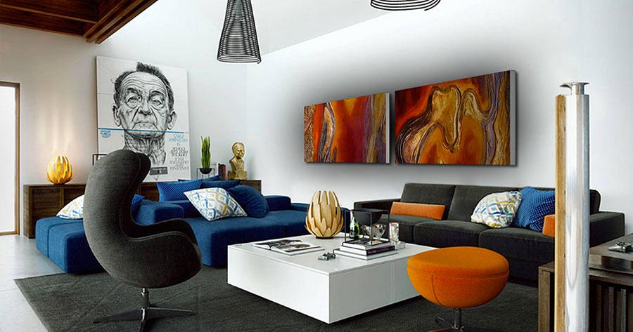 Quadri per soggiorno moderno dal design di tendenza n.13