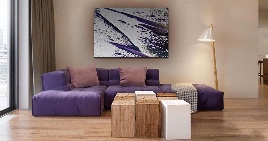 Quadri per soggiorno moderno dal design di tendenza n.14