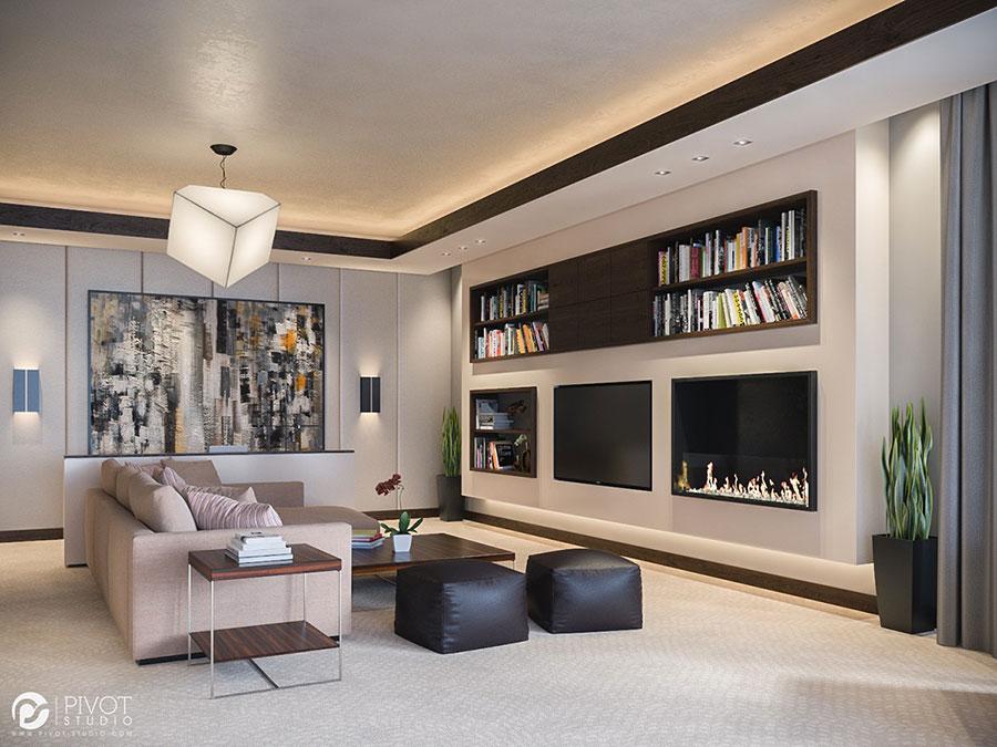 Quadri per soggiorno moderno dal design di tendenza n.15