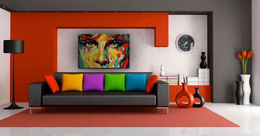 Quadri per soggiorno moderno dal design di tendenza n.19