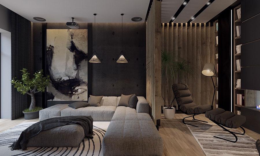 Quadri per soggiorno moderno dal design di tendenza n.23