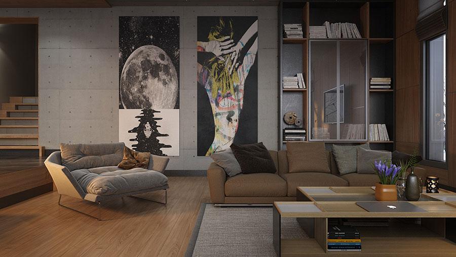 Quadri per soggiorno moderno dal design di tendenza n.25