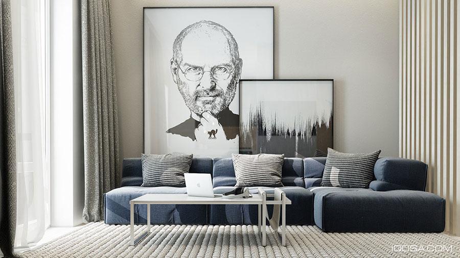 Quadri per soggiorno moderno dal design di tendenza n.27