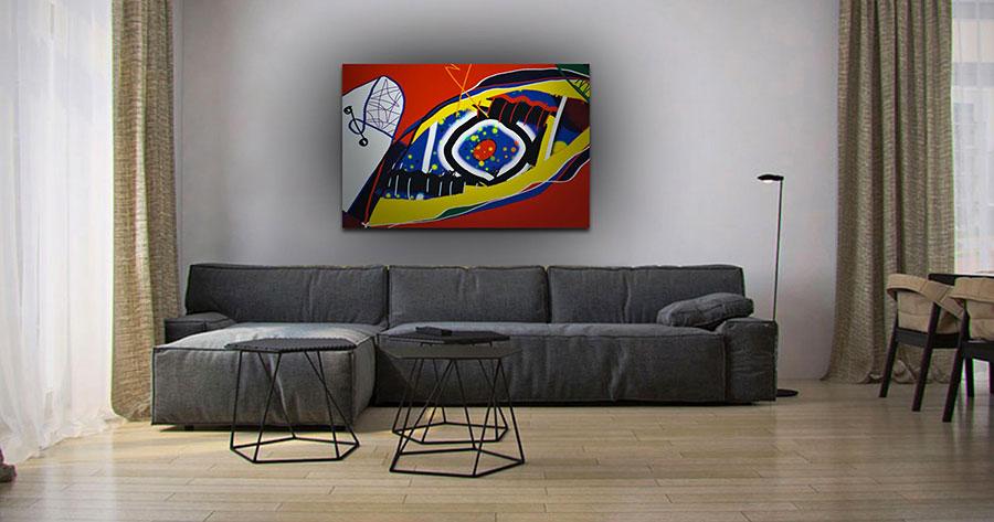 Quadri per soggiorno moderno dal design di tendenza n.30