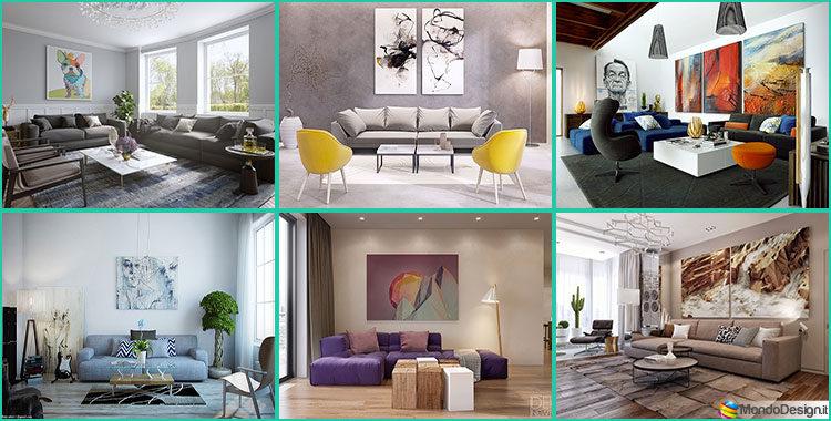 Quadri per soggiorno moderno le ultime tendenze di design for Idee per il soggiorno