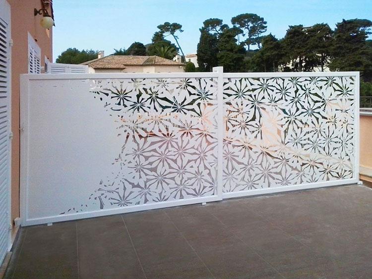 Recinzione metallica decorativa dal design innovativo n.01