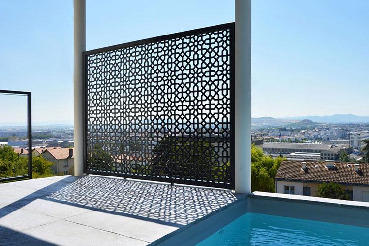 Recinzione metallica decorativa dal design innovativo n.03