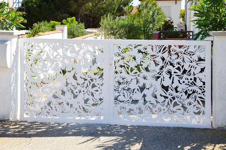 Recinzione metallica decorativa dal design innovativo n.04