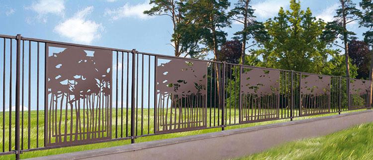 Recinzione metallica decorativa dal design innovativo n.11