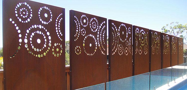 Recinzione metallica decorativa dal design innovativo n.21
