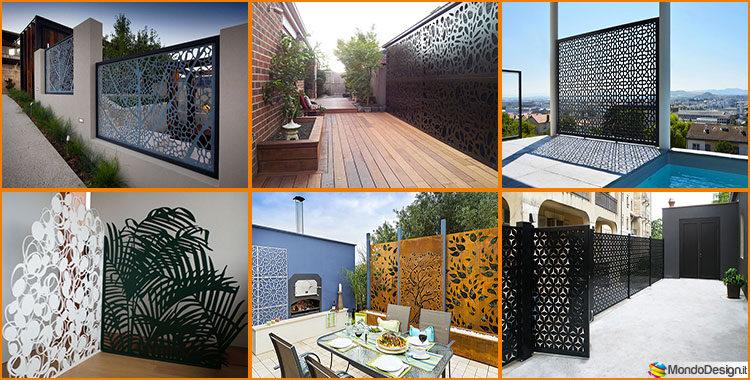 Recinzioni metalliche decorative 25 idee dal design innovativo - Recinzioni privacy giardino ...