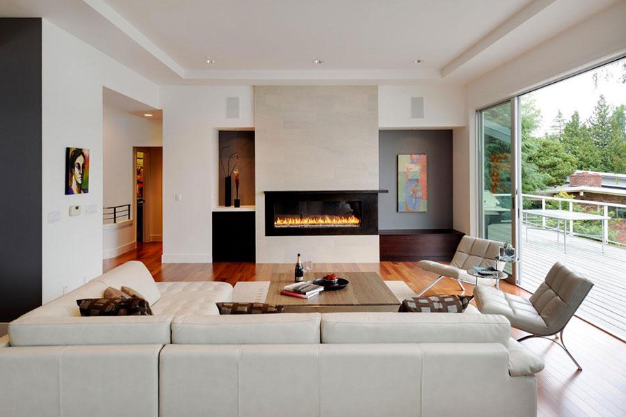 Idee per arredare un salotto con camino dal design moderno n.05