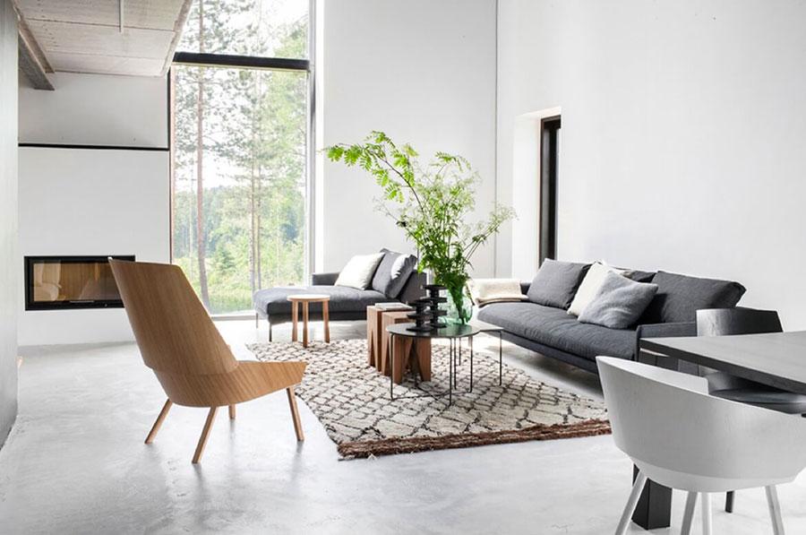 Idee per arredare un salotto con camino dal design moderno n.11