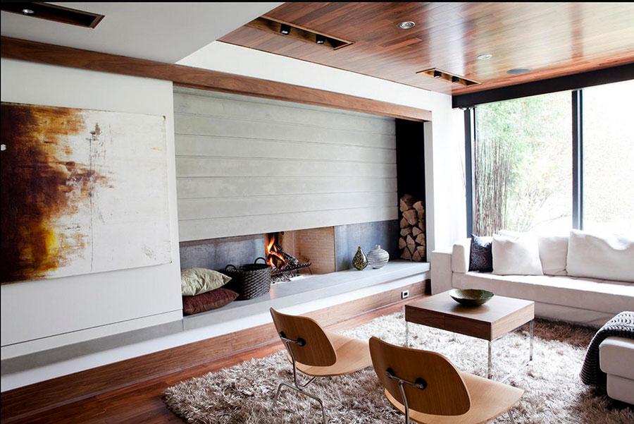 Idee per arredare un salotto con camino dal design moderno n.15