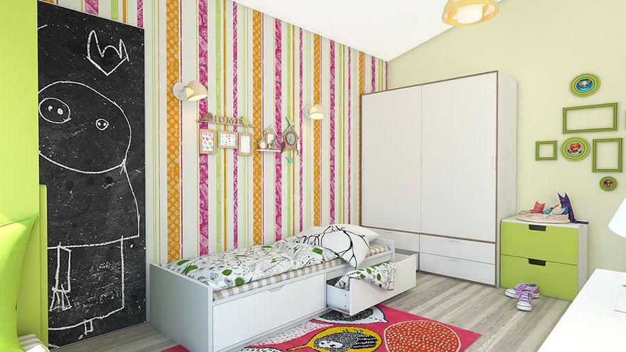 Idee per camerette con pareti multicolore n.2