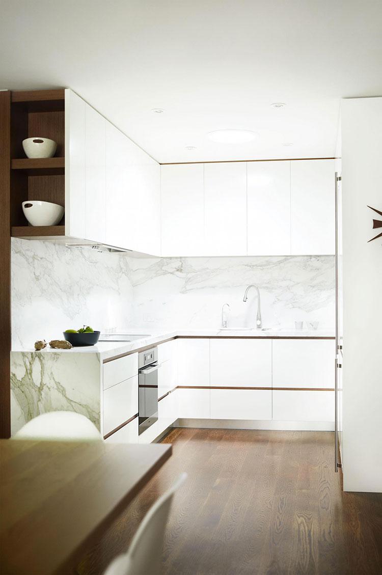 Come arredare una piccola cucina 25 idee pratiche e di design - Idee per arredare una cucina piccola ...