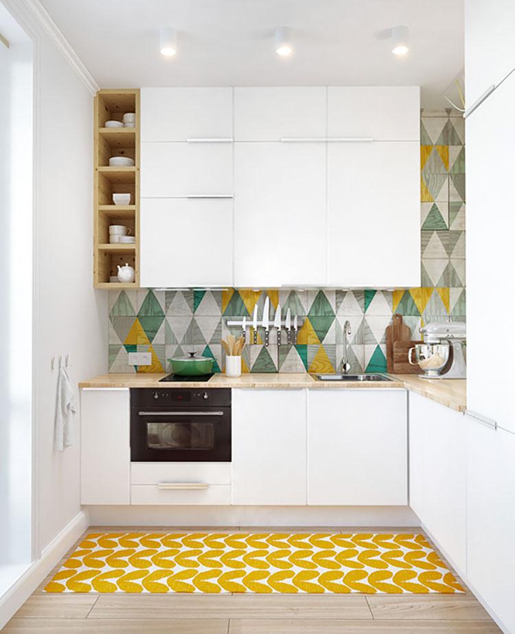 Idee su come arredare una piccola cucina n.12