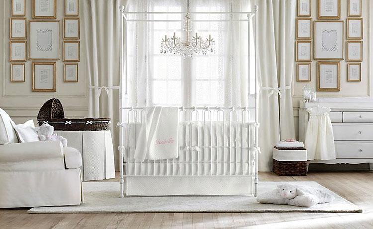 Modello di cameretta per neonati in stile shabby chic n.02