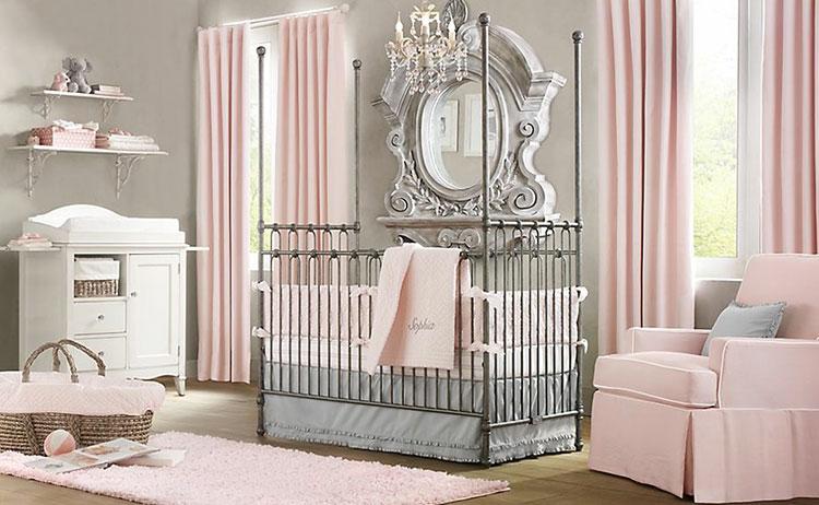Cameretta Bambina Shabby Chic : Camerette per neonati in stile shabby chic mondodesign