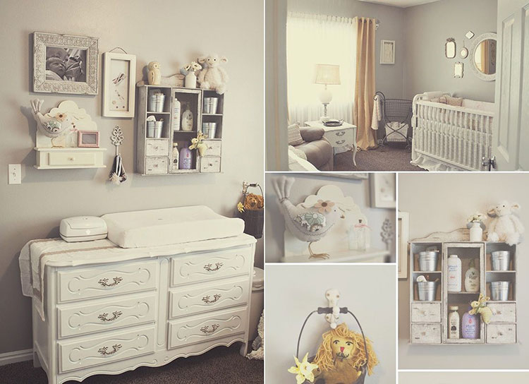 20 Camerette per Neonati in Stile Shabby Chic | MondoDesign.it