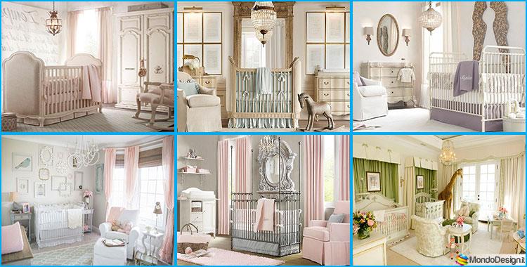 20 camerette per neonati in stile shabby chic