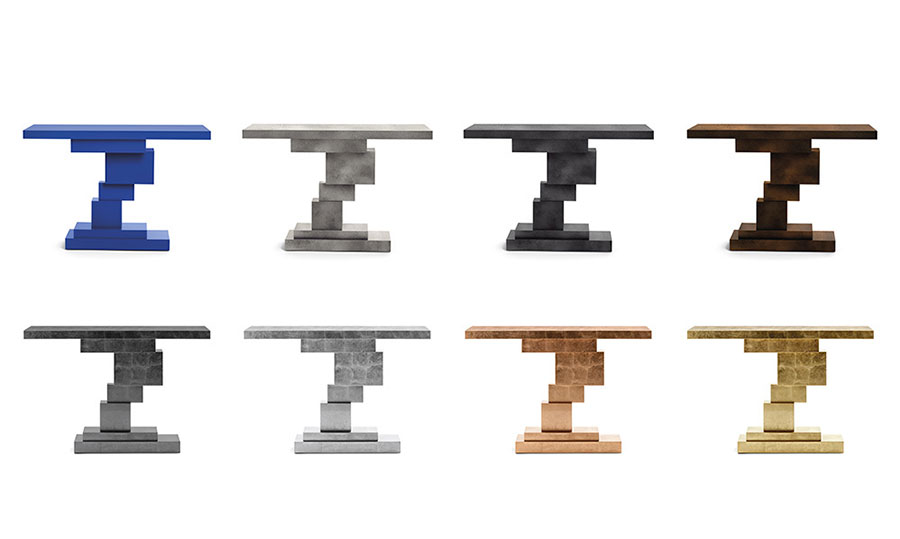 Modello di consolle per ingresso dal design particolare n.03