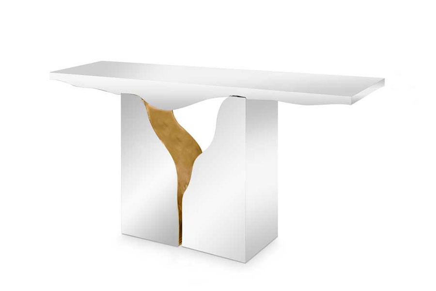 Modello di consolle per ingresso dal design particolare n.11