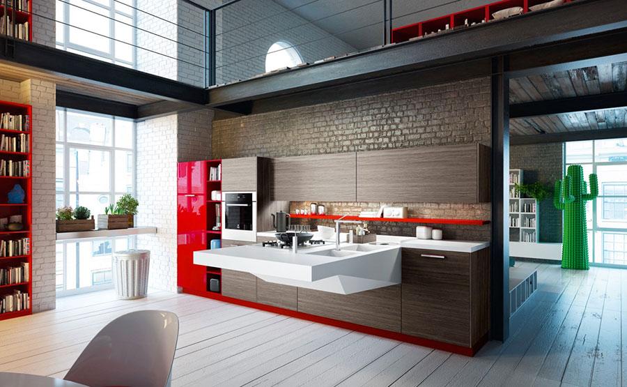 Modello di cucina dal design futuristico n.04